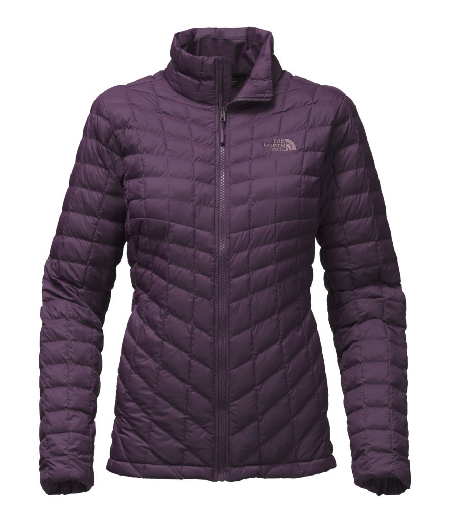 The North Face Women's Thermoball Full Zip Jacket - Dark Eggplant Purple Matte - L