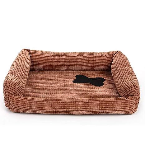 Cama para perros Perros Cojín perros sofá perro cesta de cuatro rectangular con cojín Reversible (
