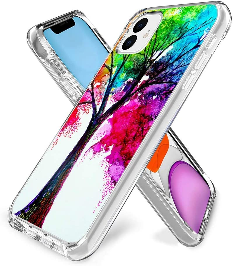 YueNew Personalized Tree of Life Case for iPhone 11 Phone Cover Clear Silicone Protective Case for iPhone 11 (Tree of Life)