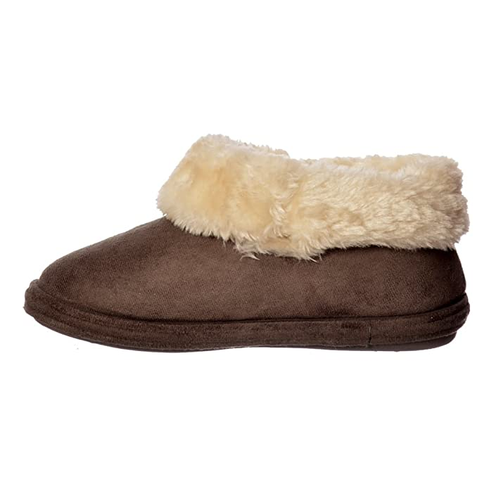 Jo & Joe Chiltern Fur Lined Fur Collar Slipper Boot - Cognac, Dark Brown UK5 - EU38 - US7 - AU6 Dark Brown