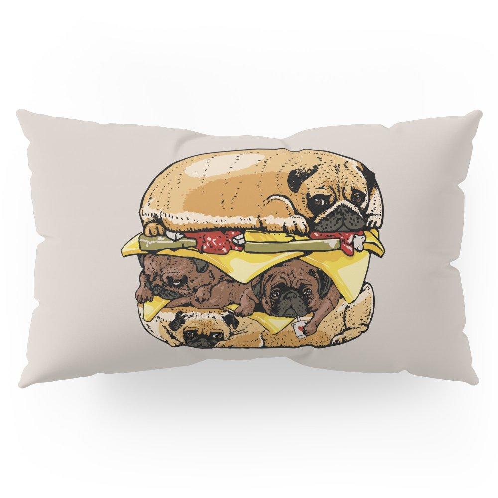Society6 Pugs Burger Pillow Sham King (20'' x 36'') Set of 2