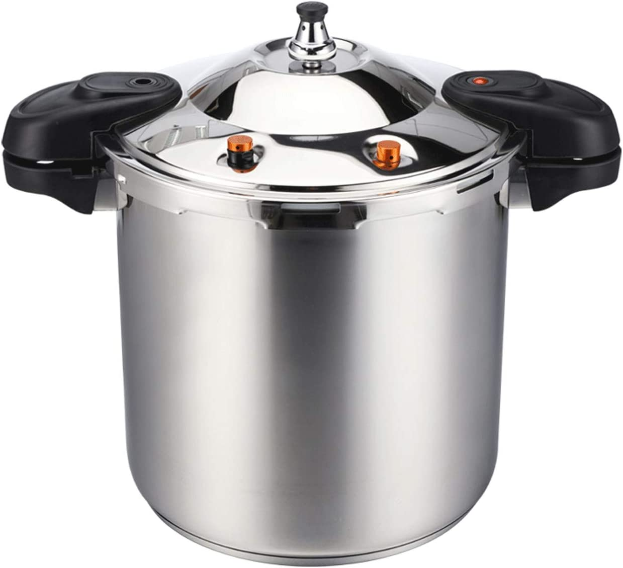 Z-COLOR 304 Stainless Steel Large Pressure Cooker, Explosion-proof High-pressure Six-layer Protection Commercial Large Family Soup Pot Slow Cooker (Size : 20L)
