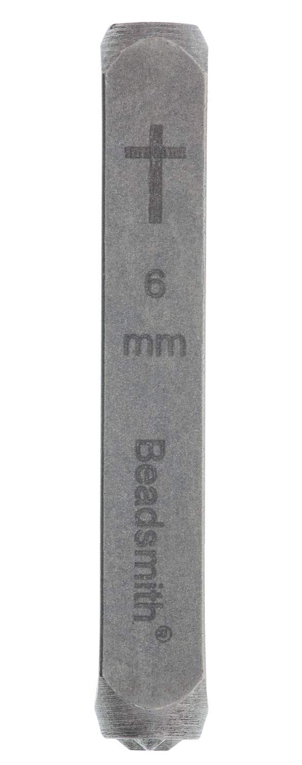 Narrow Cross 6mm Design Stamp - LPSD75 by Beadsmith