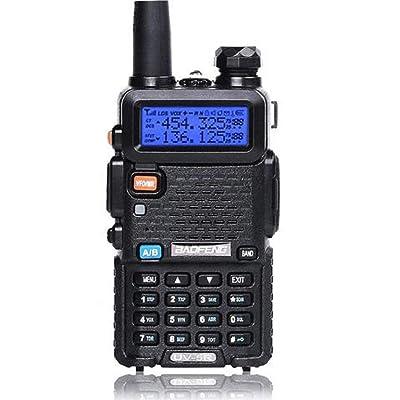 Baofeng UV-5R Two Way Radio Dual Band 136-174/400-480Mhz Walkie Talkie 1800mAh Li-ion Battery [5Bkhe0406321]