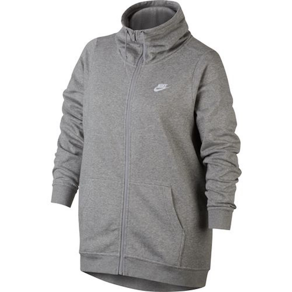 41d701cbbf89 Nike Womens Plus Size Funnel Neck Full Zip Jacket (1X) Gray at Amazon  Women s Clothing store