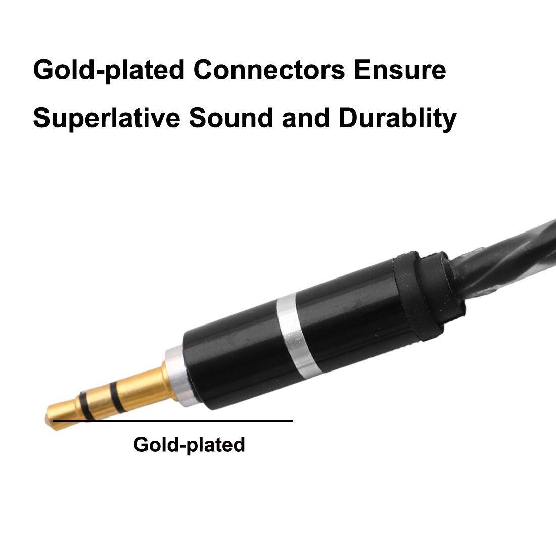 Amazon.com: DealMux Mobile PC Mp4 Telefone 3,5 mm macho para Cabo Masculino Cable M / M conector de áudio 1.02m Long Black: Electronics