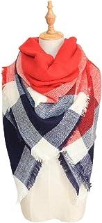 Women's Fall Winter Scarf Classic Tassel Tartan Plaid Scarf Warm Soft Kerchief Wrap Shawl Scarves/*- douhuayu