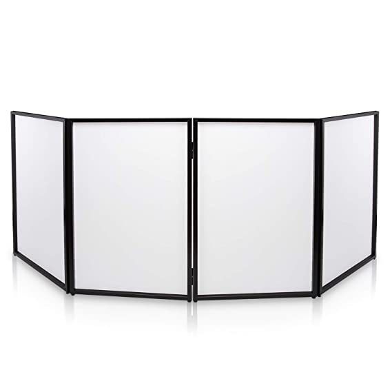 Groovy Dj Booth Foldable Cover Screen Portable Event Facade Front Board Video Light Projector Display Scrim Panel With Folding Steel Frame Panel Stand Download Free Architecture Designs Rallybritishbridgeorg