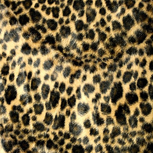 - Baby Cheetah Chocolate Velboa Faux Fur Animal Short Pile Fabric - Sold By The Yard (FB)