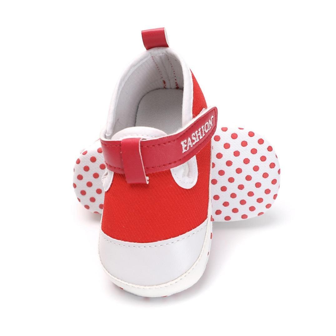Jinjiu Toddler Baby Boys Girls Canvas Shoes Soft Sole Anti-Slip Crib Shoes