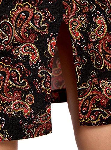 oodji Ultra Mujer Vestido de Punto con Tirantes Finos Negro (2945E)