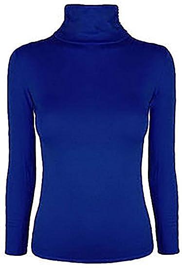 Uptown Girl Polo para Mujer de Manga Larga con Cuello Alto elástico Jersey Cuello Alto suéter