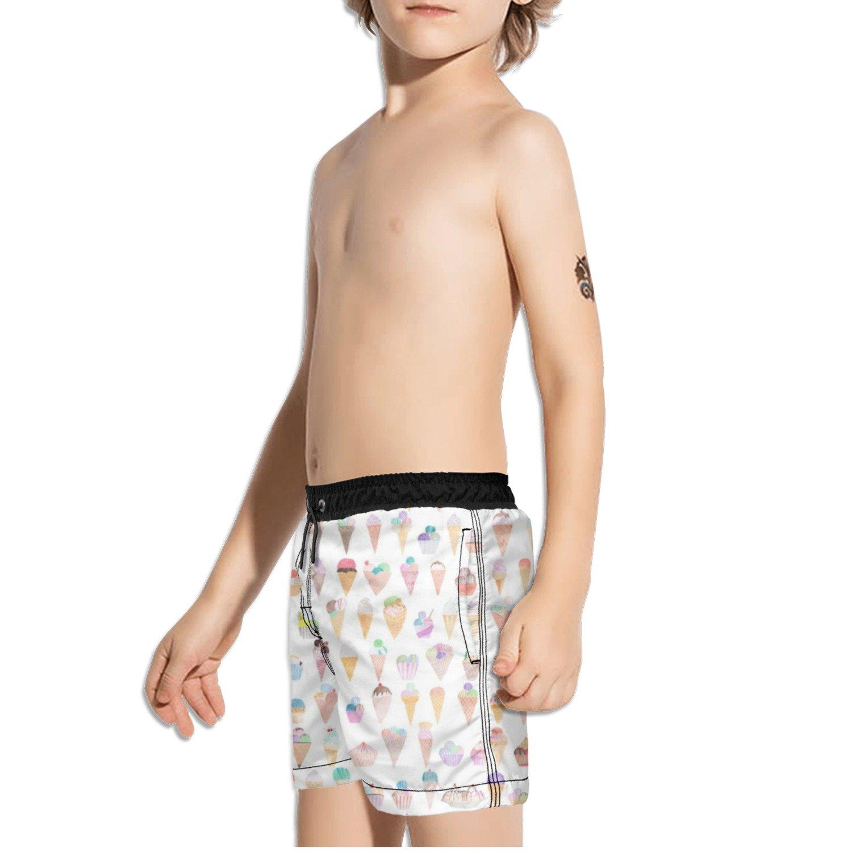 Ouxioaz Boys Swim Trunk Funny Cute ice Cream Beach Board Shorts