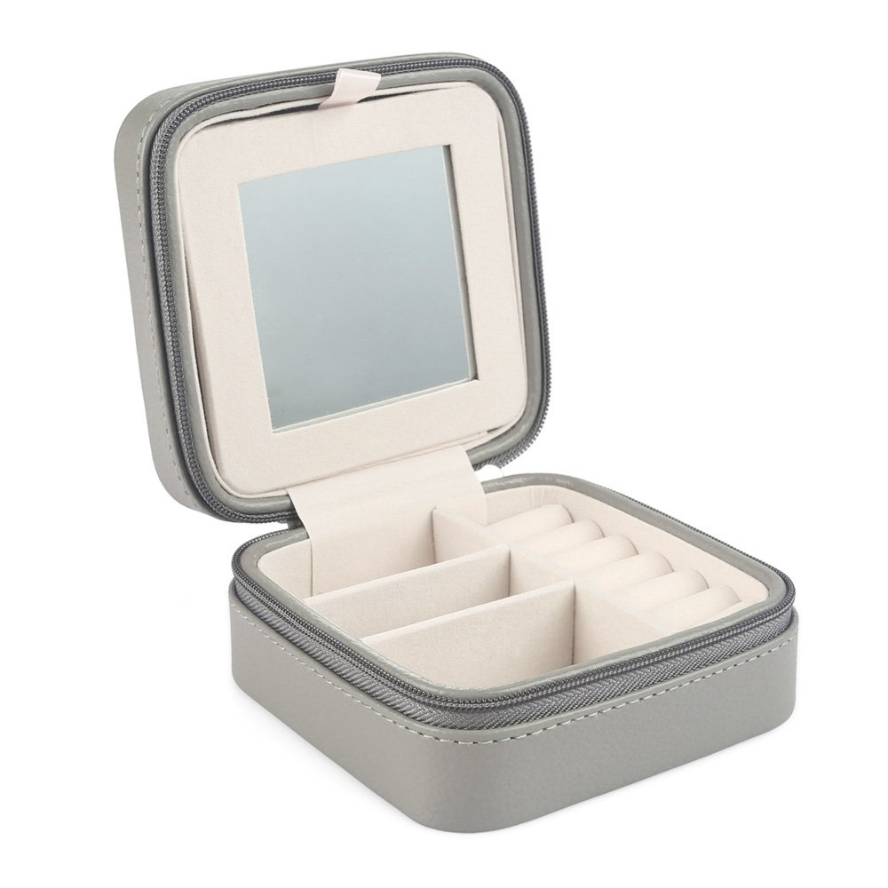 Amazoncom Vlando Small Portable Travel Jewelry Box with Mirror