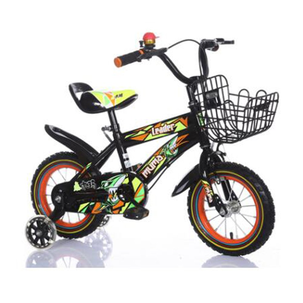 HAIZHEN マウンテンバイク キッズバイク男の子用自転車サイクリング自転車、12インチ、16インチ、95%組み立て、子供用ギフト 新生児 B07C433SSF 12 inch|Black+Orange Black+Orange 12 inch