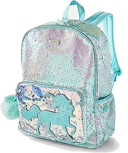 Justice Flip Sequin Backpack Unicorn Shaky Magic Mint Poly