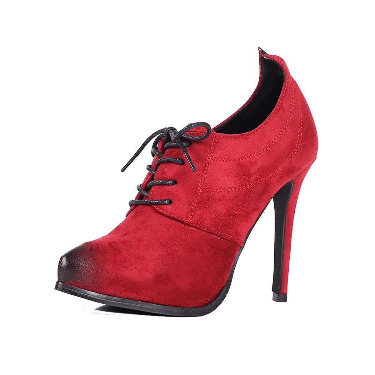 LBTSQ-Aus Tiefen Schuh Frenulum Wasserdicht Hochhackigen Schuhe 11Cm Wies Kopf Dünne Sohle Schuhe Mode Mode.