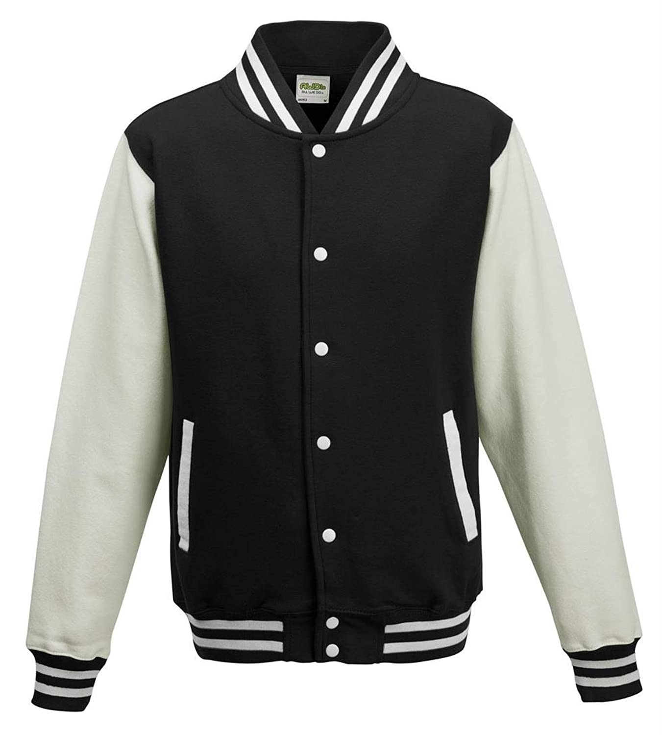 Men's Vintage Style Coats and Jackets Plain Varsity jacket - 16 Colours - Sizes XS to 2XL  AT vintagedancer.com