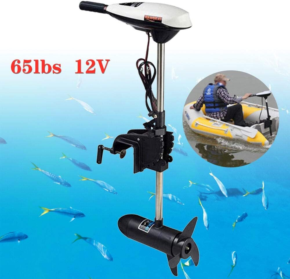 40lbs Trolling Boat Engine Motor 12V for Inflatable Raft Fishing Aquaculture Outdoor Adventure Boat DIFU Outboard Electric Motor