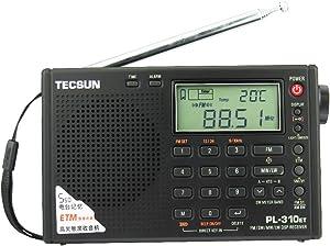 TECSUN PL-310ET FM Stereo/SW/MW/LW World Band PLL DSP Radio Black by allnice