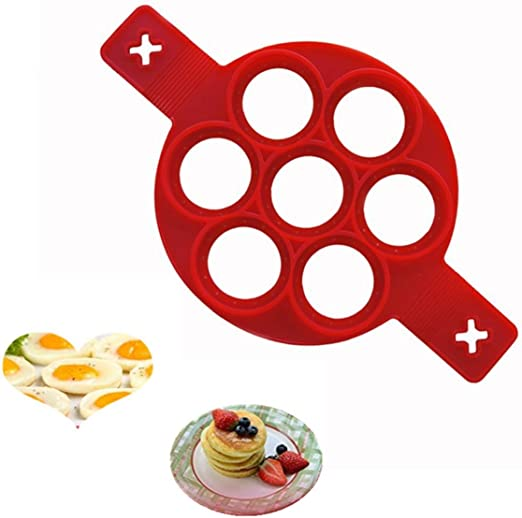 Molde de silicona para panqueques, anillo para huevos ...
