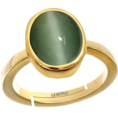 Buy Gemorio Cat S Eye Lehsunia 6 5cts Or 7 25ratti Stone Panchdhatu Adjustable Ring For Men At Amazon In