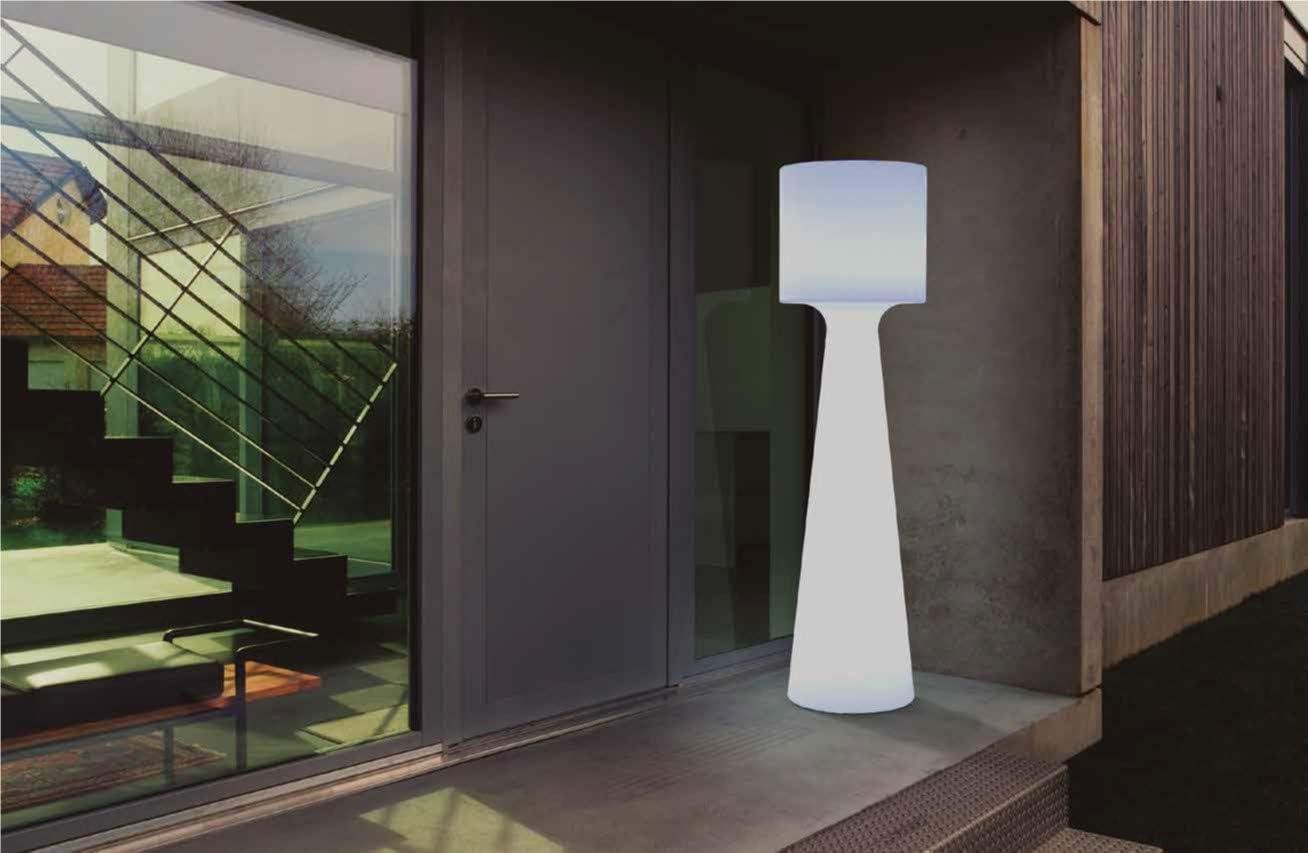 New Garden Grace Stehlampe Fur Den Aussenbereich Hohe 140 Cm Weiss