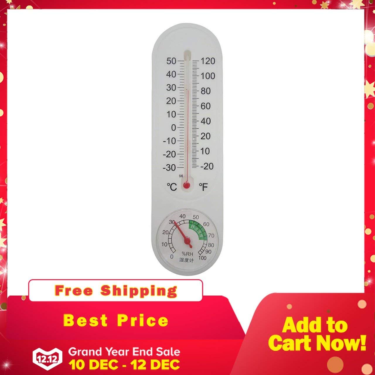 Jasnyfall Thermometer Luftfeuchtigkeit Meistverkaufte Analog Haushaltsthermometer Hygrometer Wand Tester Messen Hause Beliebte Neue wei/ß