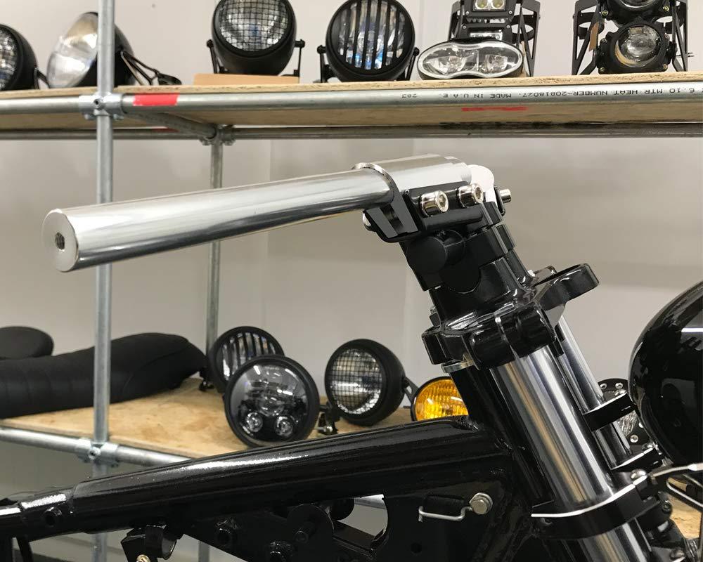 Brat Motorrad Retro Projekt 7//8 22mm Motorrad Lenkerstange Silber f/ür Individualisierte Cafe Racer Streetfighter