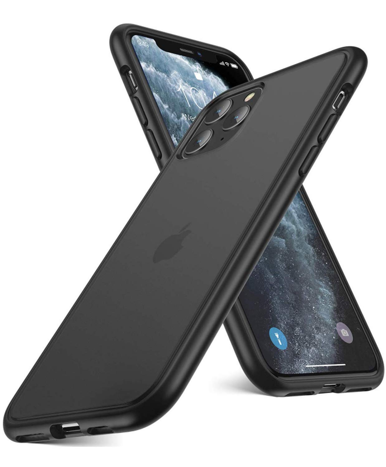 """Humixx iPhone 11 Pro Max Case Military Grade Shockproof Cover, 2 Meters Drop Protection,Dustproof Translucent Matte Hard PC Back Phone Case with Soft Bumper (6.5"""") - Matte Black"""