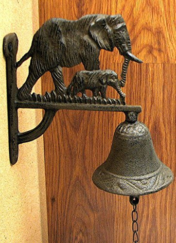 Elephant Bell Cast Iron Animal