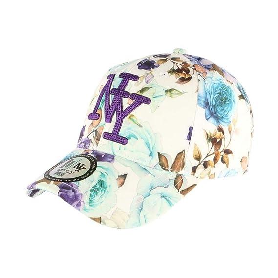 Gorra NY Azul y Violeta Floral Fashion béisbol Bora – Unisex Azul ...