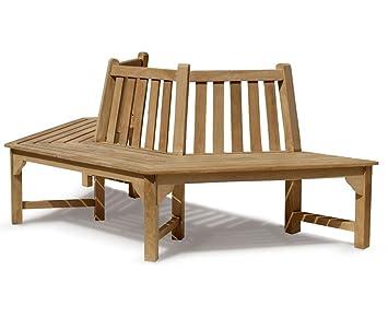 Jati Hexagonal Half Tree Seat   Teak Half Tree Bench Brand, Quality U0026 Value