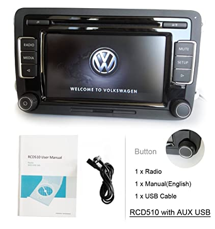 SODA OEM Car Stereo Radio VW RCD510 w/ Code Support CD AUX USB SD