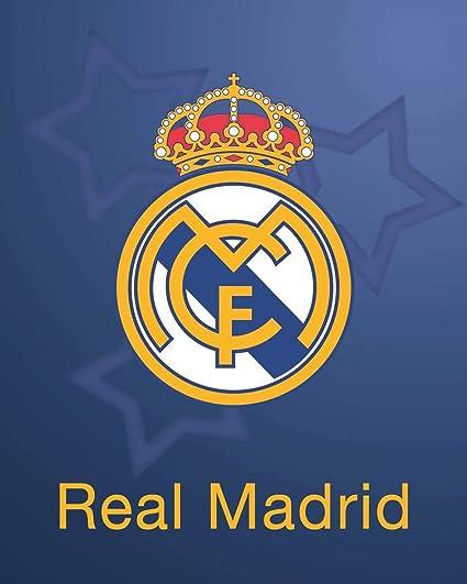 Asditex Manta Rachel Real Madrid 160x240 - Manta para Cama de 90 cm - Estampado Fondo