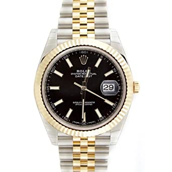 Amazon.com Rolex Datejust 41mm Black Dial 18k Yellow Gold