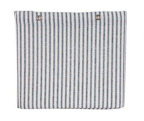 Sturdy Cotton Duck Shower Curtain, TUB Size, Blue Ticking Stripe (Striped Ticking)
