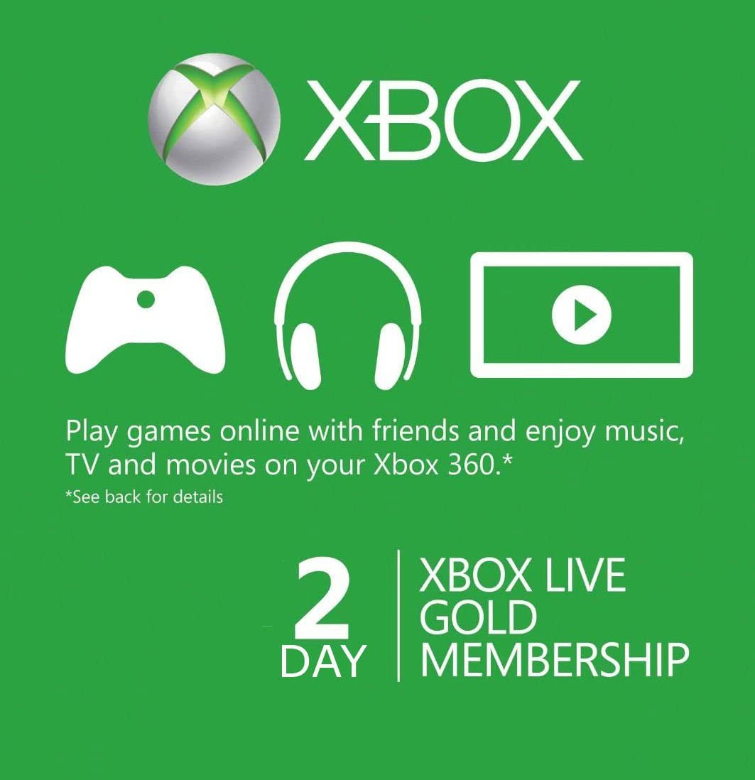 Amazon.com: Xbox Live 48 Hour / 2 Day Trial Code [FAST ...