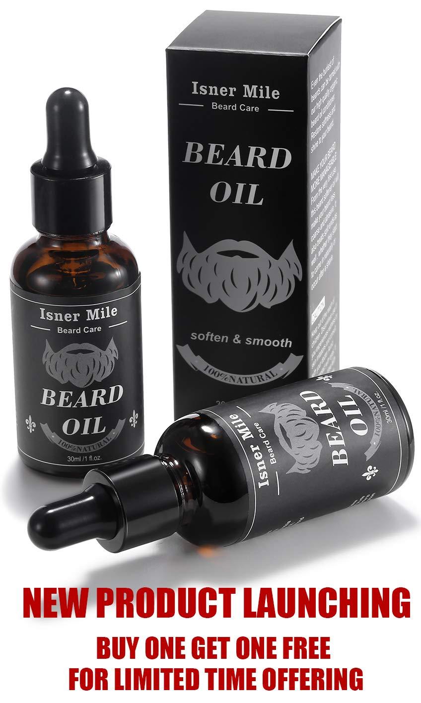 Mejor Elección 2 Paquetes Ricino Aceite de Barba para Hombres Cuidado de Barba, Ideal para El Crecimiento de La Barba, Suavizar, Hidratar, Fortalecer ...