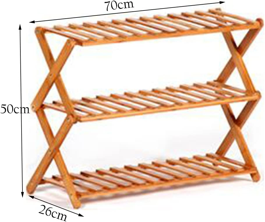 ZAY Bamboo Shoe Rack Plegable Soporte de Almacenamiento de Zapatos ...
