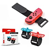 TERSELY Wrist Bands Compatible with Nintendo Switch Joy-Cons Controller, [2 PACK] Adjustable Elastic Sport Movement Leg…