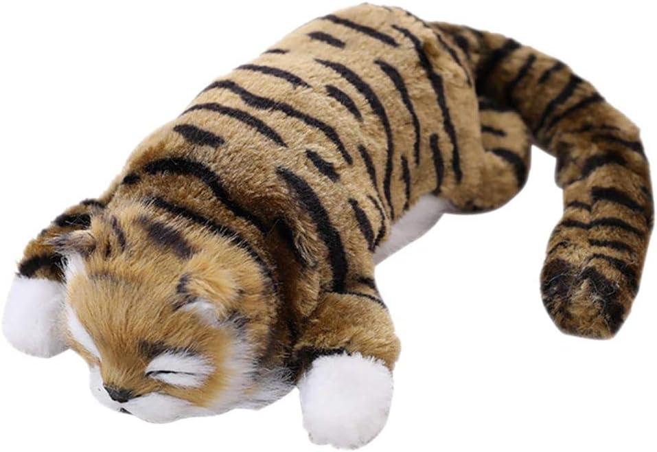 Sanmubo Trading Muñeco de Peluche para Niños Juguete Eléctrico Realista en Forma de Gato con Música, Juguete Interactivo Divertido para Gatos Mascotas, Movimiento Automático