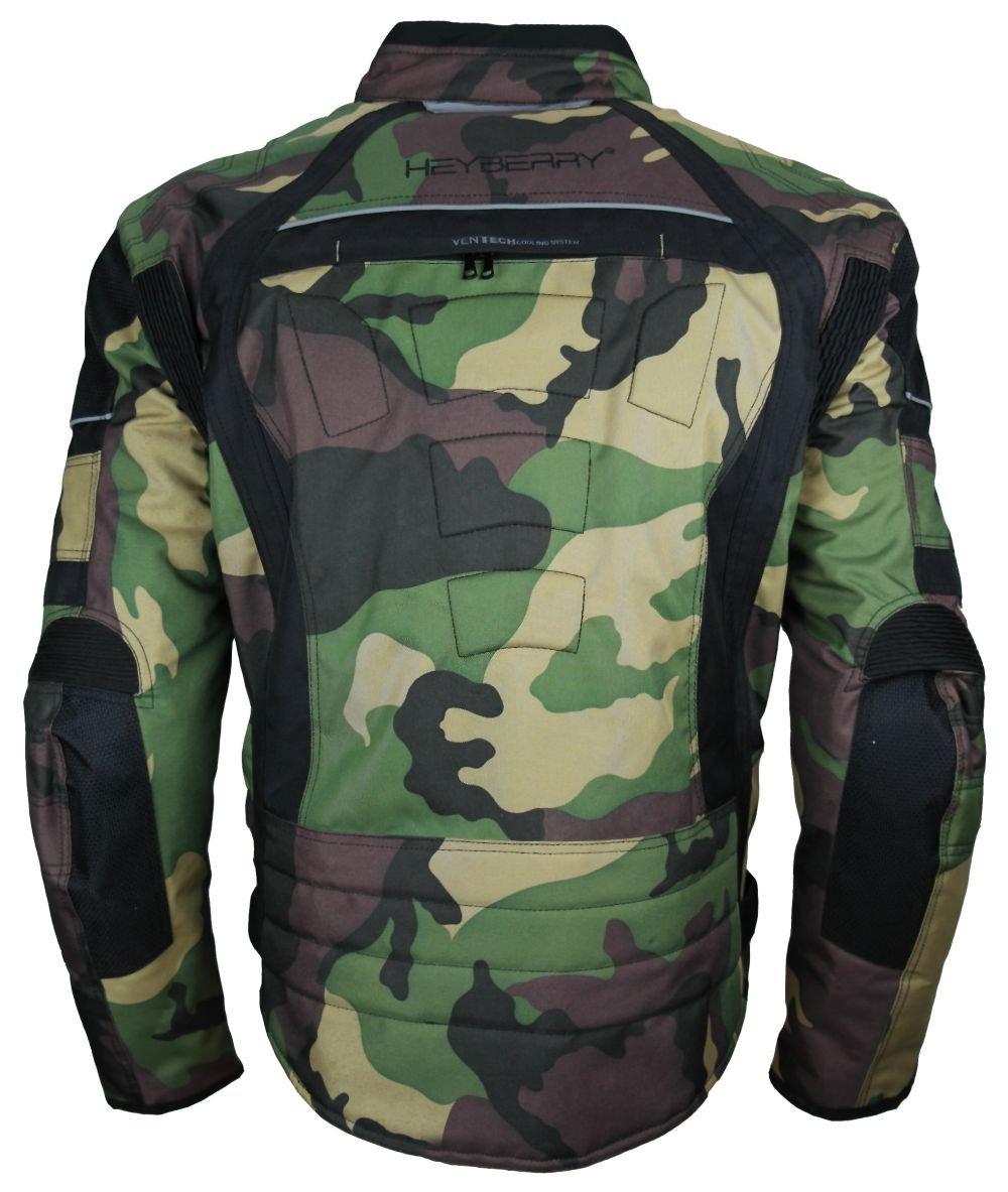 7XL HEYBERRY Motorrad Jacke Motorradjacke Camouflage Woodland Gr