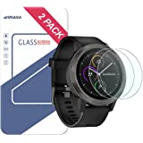 Garmin Vivoactive 3 Screen Protector, Wimaha 2 Pack Tempered Glass Screen Protector for Garmin Vivoactive 3 Ultra Clear Scratch Resistant Anti-Bubble