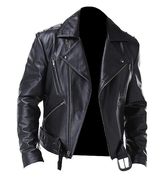 Amazon.com: Ghost Rider Biker - Chaqueta de piel sintética ...