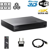 Sony 2K/4K UPSCALING 2D/3D Built-in WI-FI Region Free 0-8 and All Zone A,B,C BLURAY Player with Worldwide USE and Come with Free HDMI Cable