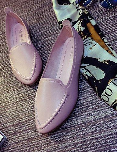 Blu Basso Scarpe gyht Rosa Casual Pink Mocassini A ShangYi Bianco punta Donna pelle Finta B6dXw