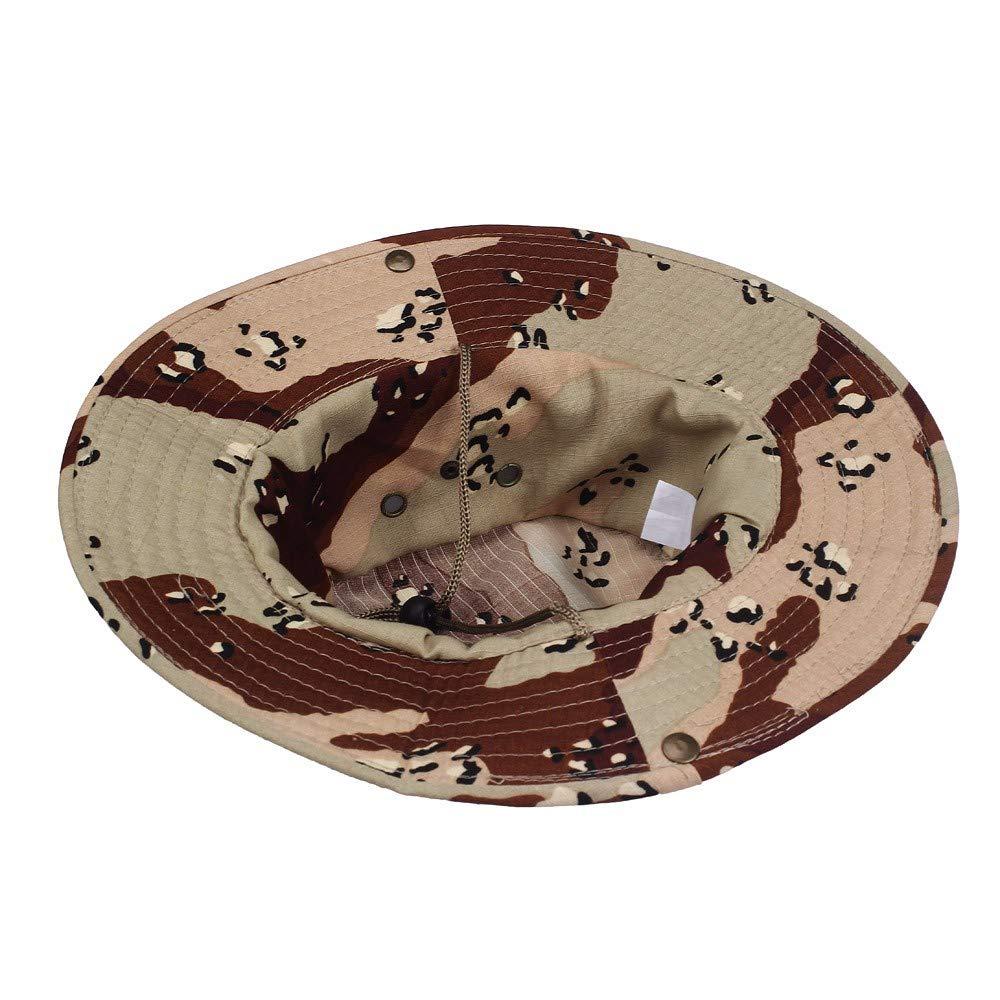 Camouflage Arrondi Chapeau p/êcheur Soleil Capot Outdoor Camping,pour L/'ext/érieur Les Jeux de Guerre La P/êche EUCoo Homme Femme Tactique Boonie Chapeau