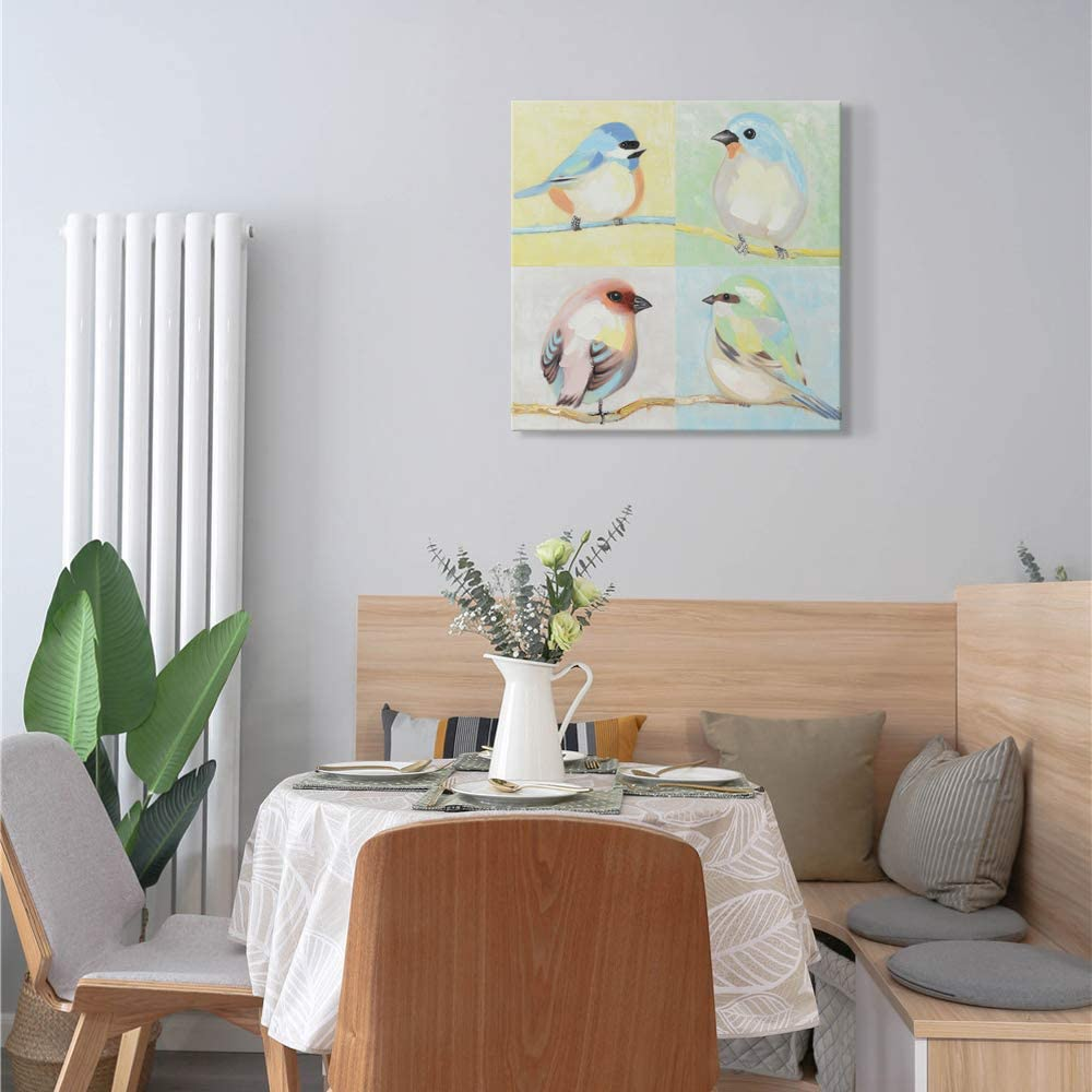 SEVEN WALL ARTS Leisure Frog Painting Cute Animal Hand Painted Oil Painting on Canvas Stretched and Framed Modern Pop Canvas Wall Art Frog 18 x 36 Inch