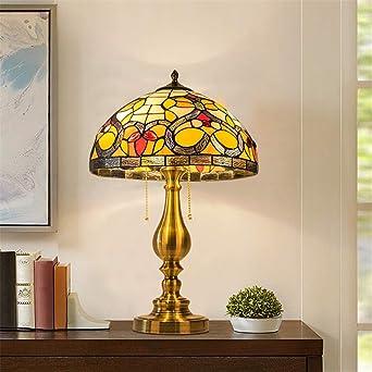 Lámpara de mesa estilo Tiffany de 12 pulgadas Pantalla de ...
